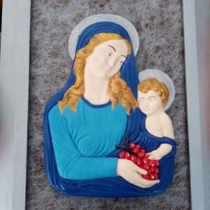 Quadro Nossa Senhora com menino Jesus - NSENHORA