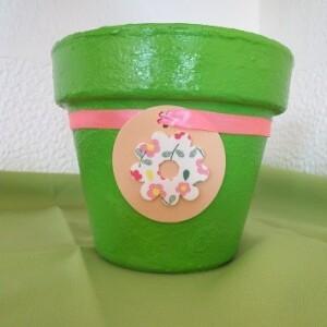 Vaso verde flor - VVERF