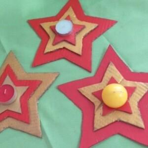 Vela estrela de cartão - VCARTAO