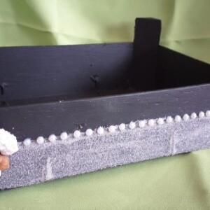 Caixa de madeira decorada - CXDEC 1