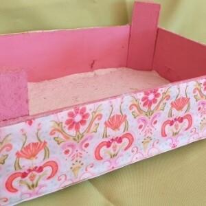 Caixa de madeira decorada - CXDEC 2