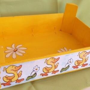 Caixa de madeira decorada - CXDEC 3