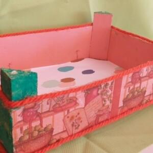 Caixa de madeira decorada - CXDEC 4