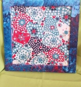 Tela azul com flores tecido - TAZFTEC
