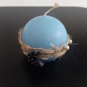 Vela bola azul com lua - VBAL
